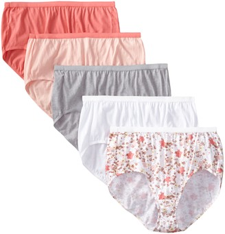 Just My Size Women's 5 Pack Cotton Brief Color Panty