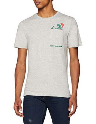 ONLY & SONS Men's Onsrex Ss Tee T-Shirt, Blue (Blue Nights Nights), Medium