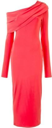 Sally LaPointe Jersey Cowl-Neck Dress