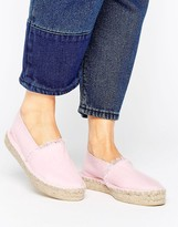 Pieces Haila Blush Stacked Espadrilles