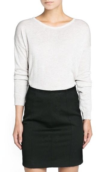 MANGO Outlet Modal Wool-Blend Cropped Sweater