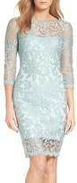Tadashi Shoji Women's Embroidered Lace Sheath Dress
