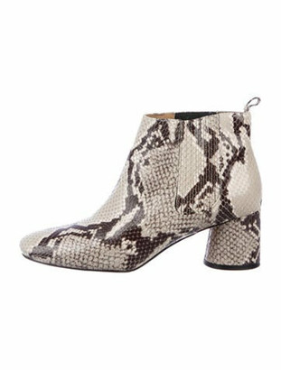 Marc Jacobs Snakeskin Animal Print Boots Grey