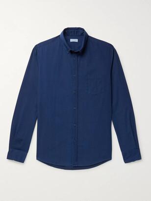 Sunspel Button-Down Collar Cotton-Chambray Shirt