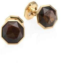 David Yurman Fortune Golden Sheen Sapphire & 18K Yellow Gold Cufflinks