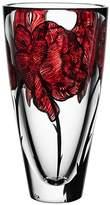 Kosta Boda Tattoo Vase, Red