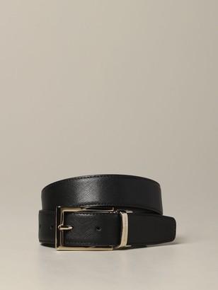 Ermenegildo Zegna Belt Reversible Saffiano Leather Belt