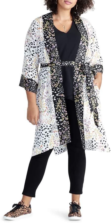 Iris Tie Front Kimono