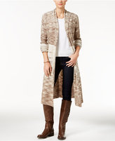 Style&Co. Style & Co. Space-Dyed Duster Cardigan, Only at Macy's