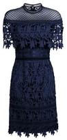 Dorothy Perkins Womens Chi Chi London Navy Crochet Mini Bodycon Dress, Navy