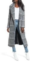 Lovers + Friends Women's Sabra Longline Plaid Coat