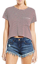 Living Doll Striped Cropped Tee
