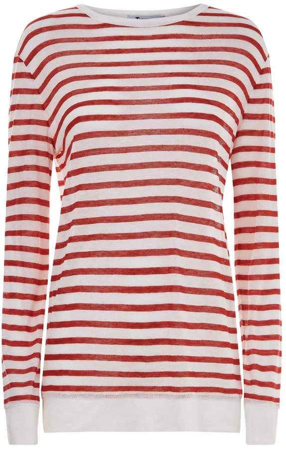 Alexander Wang Lightweight Striped T-Shirt