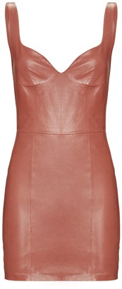 ZEYNEP ARCAY Leather Sleeveless Mini Dress