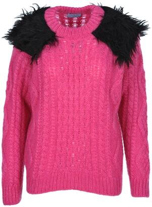 Prada Shoulder Detail Knitted Pullover