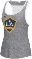 adidas Women's Los Angeles Galaxy Pearl Logo Lace Back Tank Top