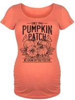 Orange Vintage Pumpkin Patch Sign Maternity Scoop Neck Tee