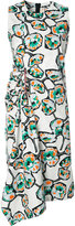 Marni draped Whisper print dress - women - Cotton - 38