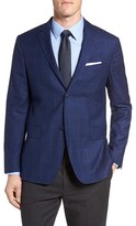 Jack Spade Men's Trim Fit Windowpane Wool Sport Coat