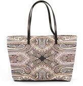 Etro Black Leather Shopping Bag