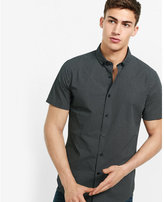 Express short sleeve tri-dot micro print shirt