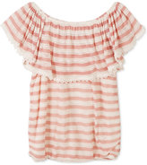 Speechless Striped Peasant Top, Big Girls (7-16)