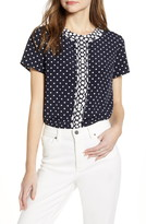 Tommy Hilfiger Mixed Dot Short Sleeve Blouse
