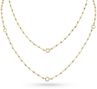 """Dominique Cohen 18k Gold Yellow Pyrite & Bamboo Link Necklace, 42""""L"""