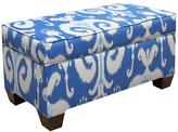 Skyline Furniture Storage Bench in Himalaya Porcelain