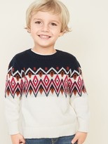Old Navy Fair Isle Crew-Neck Sweater for Toddler Boys