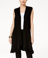 Alfani Ruffled Sweater Vest, Created for Macy's