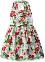 Bonnie Jean Big Girls' Sleeveless Tropical Floral Print Sundress