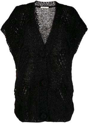 Mes Demoiselles short-sleeved knit cardigan
