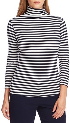 Vince Camuto 3/4 Sleeve Mock Neck Top