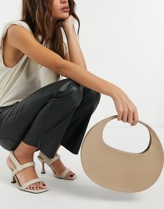 ASOS DESIGN smooth hobo shoulder bag in beige