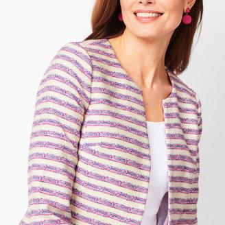 Talbots Stripe Tweed Jacket