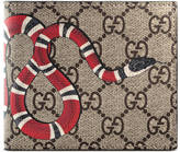 Gucci Snake print GG Supreme coin wallet