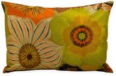 Kathy Ireland Home® by Gorham Citron Flowers Rectangle Throw Pillow