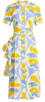 Miu Miu Floral-print crepe dress