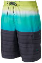 Speedo Men's Surging Striped Brushed Microfiber Stretch E-Board Shorts