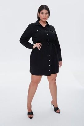 Forever 21 Plus Size Denim Shirt Dress