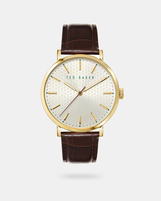 Ted Baker PHYLIB Leather croc effect band watch