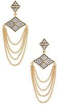 Freida Rothman Women's Contemporary Deco Chain Drop Earrings