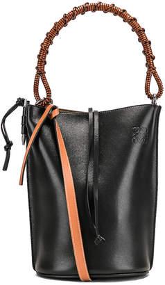 Loewe Gate Bucket Handle Bag in Black   FWRD