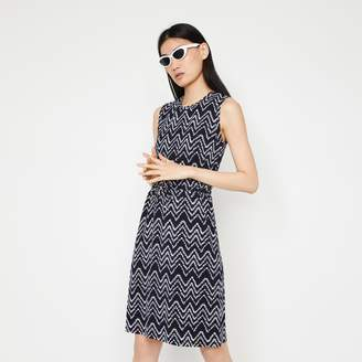 Warehouse DYE CHEVRON DRAWSTRING DRESS
