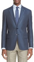 Armani Collezioni Men's 'G-Line' Trim Fit Check Sport Coat