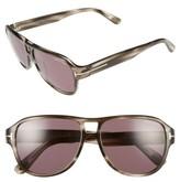 Tom Ford Women's 'Dylan' 57Mm Sunglasses - Black/ Green