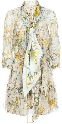 Zimmermann Lucky Tuxedo Frill Mini Dress