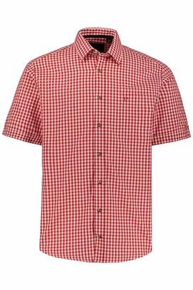 JP 1880 Men's Big & Tall Short Sleeve Traditional Shirt Light Blue XXXXXXX-Large 723283 72-7XL
