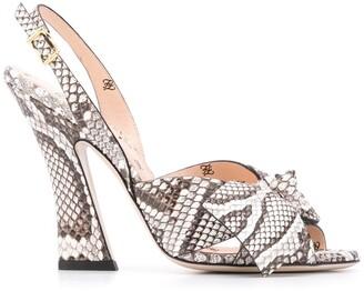 Fendi FFreedom slingback sandals